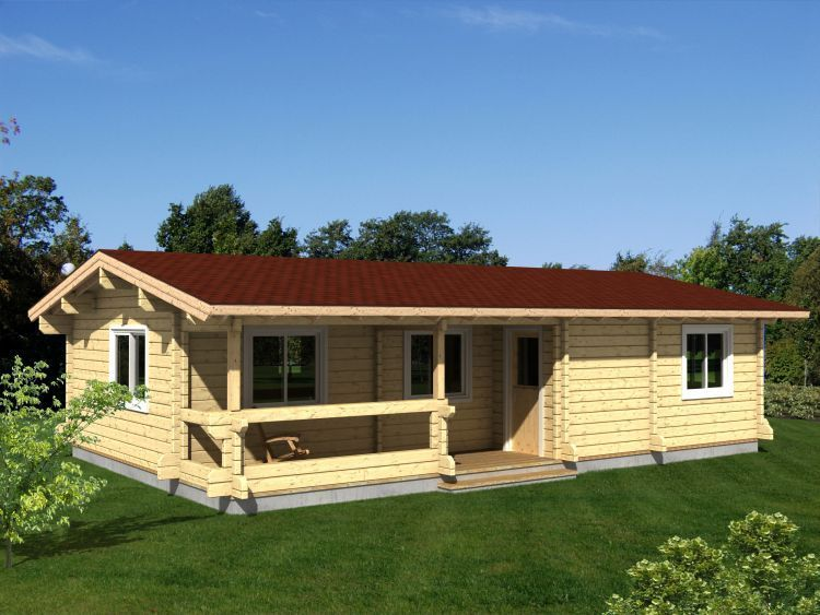Maisons en bois massif for Maison bois moderne 60m2